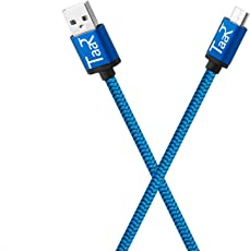 Taar MUBR Micro USB Nylon Braided Data Cable - 3.28 Feet - (1 Meter) - (Blue)