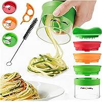 OFFRE SPÉCIALE 1 JOUR - 3 lames Spiralschneider la main pour Gemüsespaghetti pomme de terre - avec un faisceau Kochbuch…