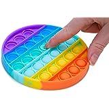 Toyland® Push Bubble Pop Bubble 'Pop It' Sensory Fidget Toy - Beaucoup de Choix (Arc-en-Ciel Rond)