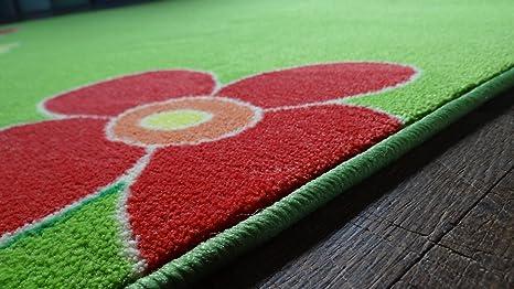 Kinderteppich blumenwiese  Amazon.de: Kinderteppich Blumenwiese 200 x 300 cm