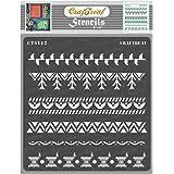 """thecraftshop Craftreat Stencil - Warli Borders 6"""" X 6"""""""