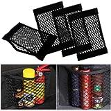 Rete Portaoggetti per Auto Bagagliaio (4 Pcs), UIHOL Storage Net Organizers con adesivi per Car Sedile Groceries, Tasca…