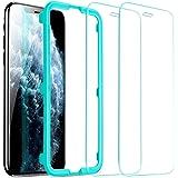 ESR Tempererat glas för iPhone 11 Pro Max skärmskydd/iPhone XS Max skärmskydd [2-pack] [Enkel installationsram] [Fodralvänlig