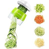 AJOXEL Coupe Légumes Spirale, 4 en 1 Spaghetti de Légumes Spiralizer Legume Trancheuse Mandoline Cuisine, Végétale…