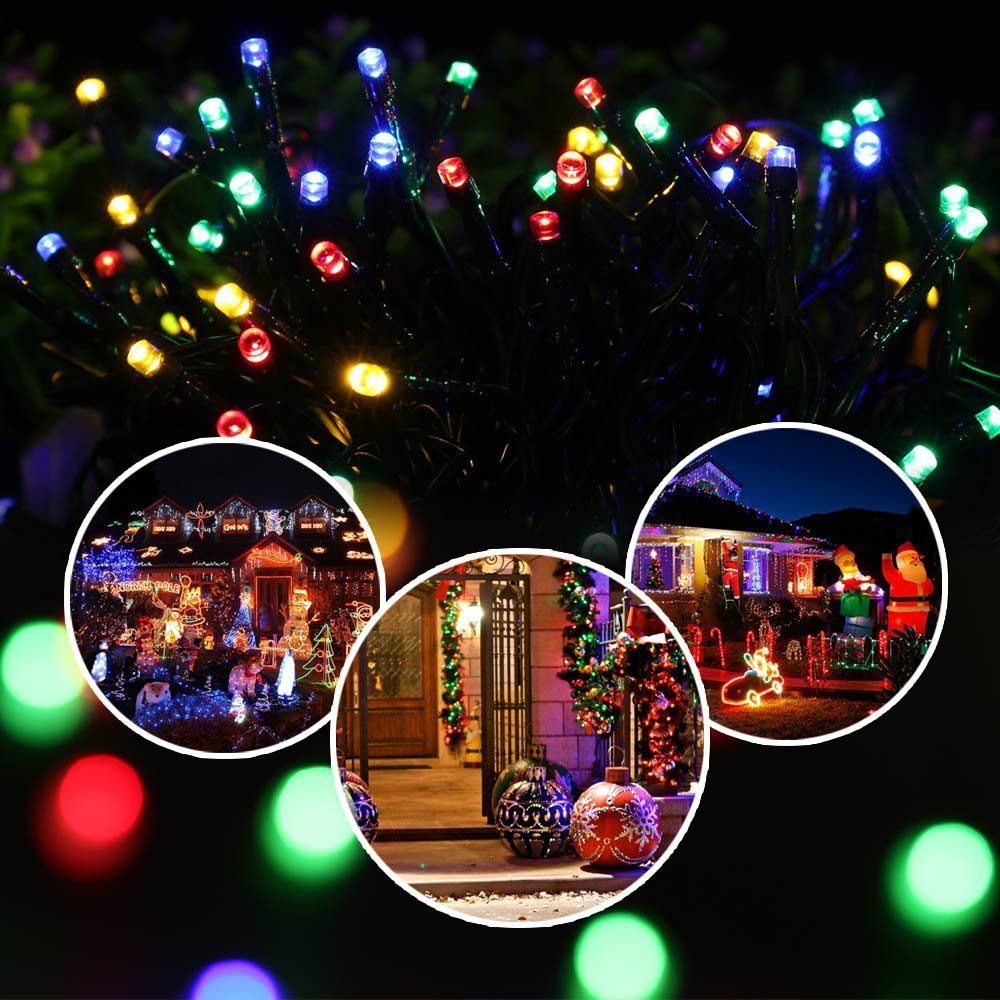 Solar Weihnachtsbeleuchtung.Ledertek Solar Lichterkette Kugel 6m 30 Led Aussenlichterkette Lichtsensor Wasserdicht Weihnachtsbeleuchtung Beleuchtung Fur Aussen Valentinstag