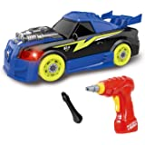 30 Take Apart Pieces with Realistic Sounds /& Lights WarmBlood Construction Toys Take Apart Toys Car Racing Easy Build Your Own Car Kit with Electric Drill Tool for 3 Year Old Boys