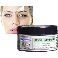 KHADI RISHKESH Herbal Under Eye Cream Gel for Dark Circles,Puffy Eyes, Wrinkles & Removal Of Fine Lines- for Women & Men…