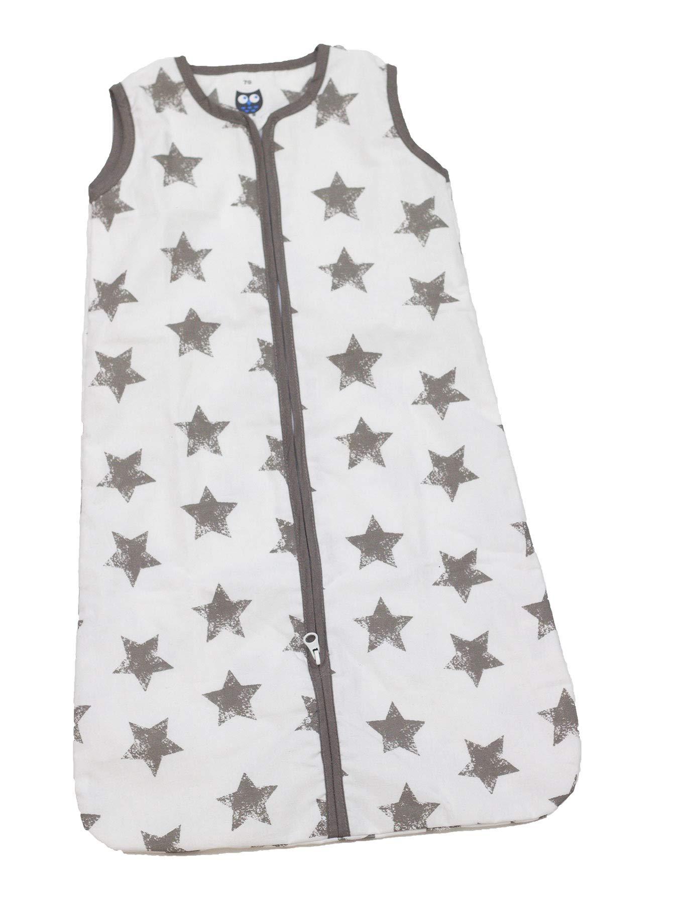 Briljant Baby – Saco de dormir de verano para su hijo (110 cm, con cremallera), color gris