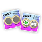 Carte à gratter personnalisable - Message au choix - Annonce originale grossesse ou événement - Modèle ticket de jeu Chance -