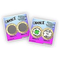 Carte à gratter personnalisable - Message au choix - Annonce originale grossesse ou événement - Modèle ticket de jeu…