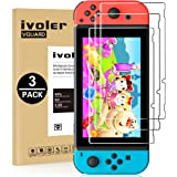 ivoler [3 Pack] Compatible with Nintendo Switch Screen Protector, [Tempered Glass] Film for Nintendo Switch - [9H Hardness] [