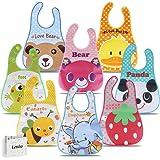 Letilio Baberos - 8 pcs Impermeable baby bib Unisexo EVA delantal de bebé para 6 meses a 6 años edad