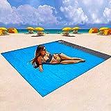 BIFY Stranddecke sandfrei, 200 x 210 cm Picknickdecke,wasserdichte,Sandabweisende Campingdecke,Sandabweisend Maschinenwaschba