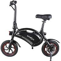 Windgoo Elektroroller, 12' Elektrofahrrad, Elektro Scooter mit 6.0 Ah Batterie, Höchstgeschwindigkeit 25 Km/h/Maximale…