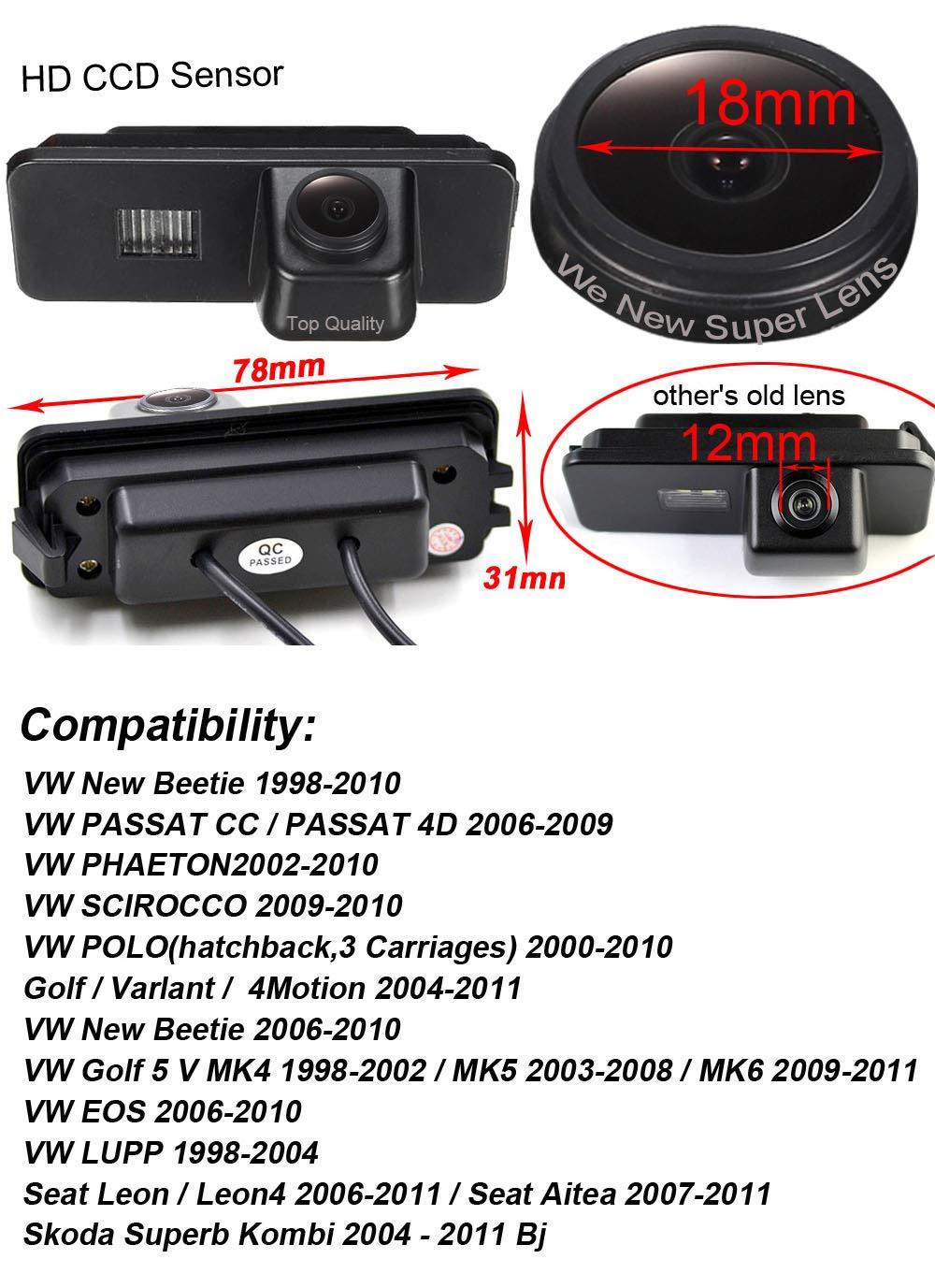 Auto-1000TV-Linien-Sternenlicht-Super-Pro-HD-Objektiv-Rckfahrkamera-verbesserte-Einparkhilfe-Nachtsicht-170-Wasserdicht-fr-VW-New-Beetle-Passat-CC-4D-Phaeton-Polo-Golf-5-V-MK456-Variant