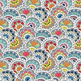 Paisley Stoffe–Paisley Floral–0,5Meterware–von benartex–100% Baumwolle mehrfarbig