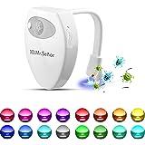Wc Luz Nocturna Led,3D.Mr.Señor [Versión Última ]UV Esterilizador 16 Colores Sensor de Movimiento luz LED Automática Inodoro