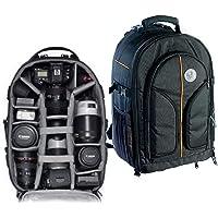 VTS DSLR Camera Backpack Bag Waterproof for Lens Accessories Tripod Monopod Heavy Duty and Video Camera (Black; Big)