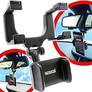 Scozzi Kfz Handyhalterung Auto Rückspiegel Spiegel Handy Halterung Halter Autohalterung Smartphone