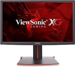 Viewsonic XG2401 61 cm (24 Zoll) Gaming Monitor (Full-HD, 1 ms, 144 Hz, FreeSync, geringer Input Lag, Höhenverstellbar) Schwarz