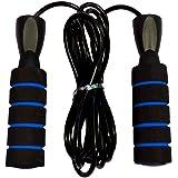 حبل نط قابل للتعديل - يد فوم - أسود/أزرق