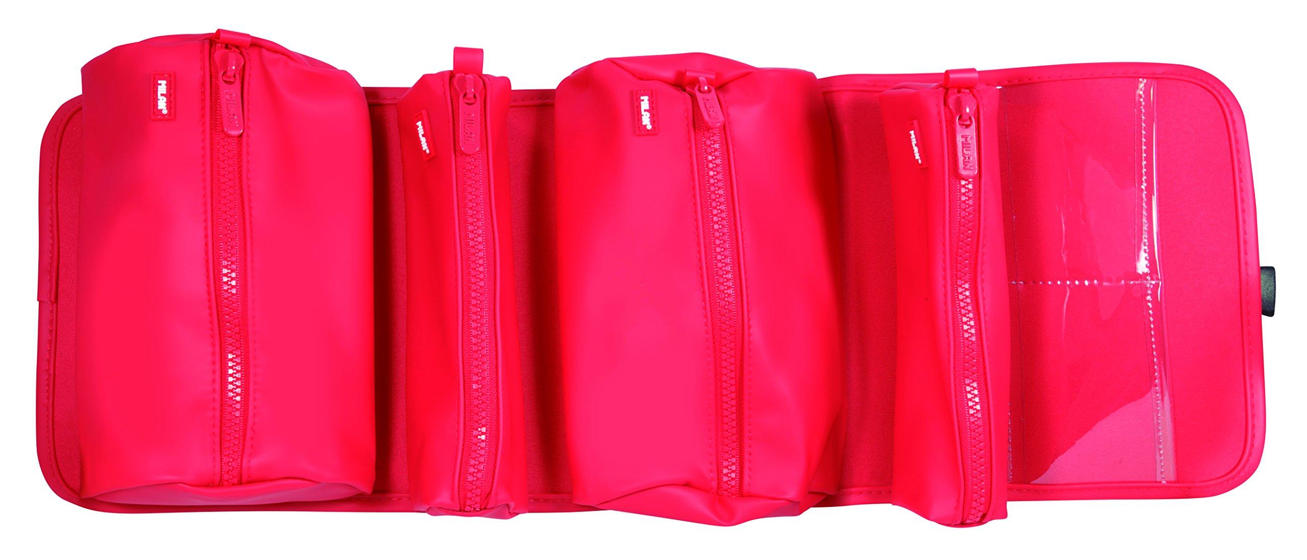 719EIw%2B%2BjcL - Milan Matt Touch Estuches, 21 cm, Rojo