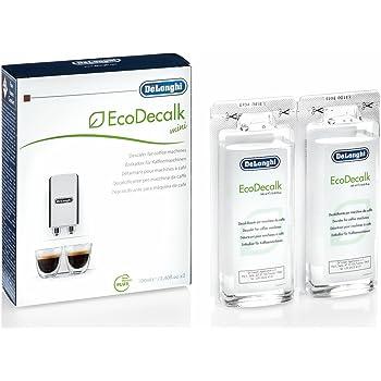 De'Longhi DLSC200 5513296011 EcoDecalk Mini Entkalker | Universal Kalklöser für 2 Entkalkunsvorgänge | Für Kaffeemaschinen und Kaffeevollautomaten | Enthält nur natürliche Rohstoffe pflanzlichen Ursprungs | 200 ml