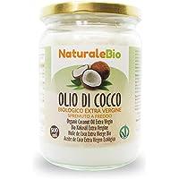 Olio di Cocco Biologico Extra Vergine 500 ml. Crudo e Spremuto a Freddo. 100% Organico, Naturale e Puro. Bio Nativo e…