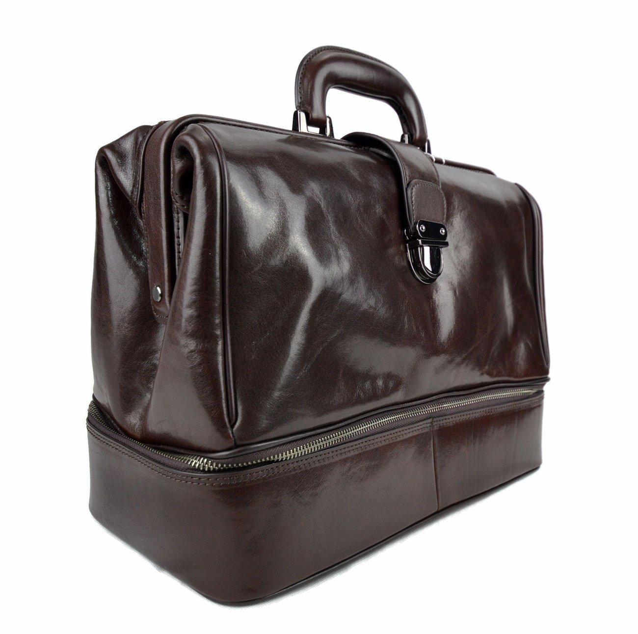 Doctor bag dark brown leather retro bag doctor bag for men women medical bag retro bag - handmade-bags