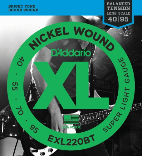 D'Addario EXL220BT E-Bass Saiten Satz Bass 040 - 095 Balanced Tension