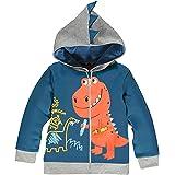 Garsumiss Sudadera con Capucha para Niños Lindo Dibujo Animal Dinosaurios Encapuchado Abrigos