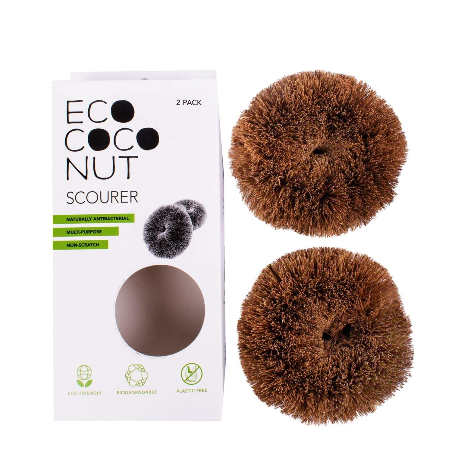 Eco Coconut Eco-Friendly, Multi-Purpose Scourers, Pack of 2 1