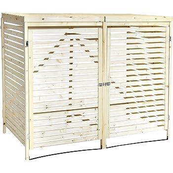 Charles Bentley - Mülltonnen-Verkleidung aus natürlichem Fichtenholz - für 2 Tonnen