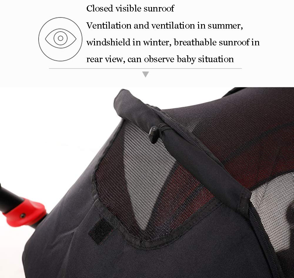 MYRCLMY Double Stroller Twins Baby Stroller,Can Sit And Detachable,Ultralight Portable Folding Backrest Push Handle Double Trolley Jogging Four-Wheel Four Seasons Universal,Black MYRCLMY *TWIN STROLLER: Getting everywhere with two little ones has never been easier, thanks to the Double Strollers; you can glide around town even when you only have one hand free to steer; you can even roll through a standard size doorway. *ADJUSTABLE BACKREST & CONNECTABLE SEATS :The backrest can adjust to fit baby's sleep posture to keep comfortable sleeping. Two seats can be connected to lengthen the seat. *SAFETY WHEELS & 5-POINT SAFETY BELTS:The springs in front wheels absorb shocks for easy to control direction and safety. The 5-point safety belt is equipped with each seat to ensure security while keeping your baby fit to the safety belt to feel comfortable. 3