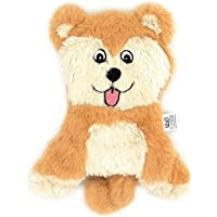 Goofy Tails Husky Unstuffed Crinkle Toys for Puppies with Squeaky Plush Toy for Puppies for Small & Medium Breeds