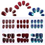 FLOFIA 72 Stk Falsche Nägel zum Aufkleben Künstliche Fingernägel Selbstklebend Kunstnägel Künstliche Falsche Nail Tips…