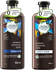 Herbal Essences Bio: Renew Coconut Milk Shampoo, 400 ml with Herbal Essences Bio Renew Coconut Milk Conditioner, 400 ml
