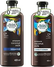 Herbal Essences Bio: Renew Coconut Milk Shampoo, 400 ml with Herbal Essences Bio Renew Coconut Milk Conditioner, 400 ml
