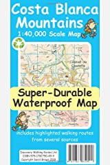 Costa Blanca Mountains Tour & Trail Super-Durable Map (2nd ed) Map