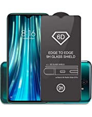 Affix Premium Edge to Edge Tempered Glass Screen Protector for Xiaomi Mi Redmi Note 8 Pro with Easy Installation Kit (Black) [Pack of 1]