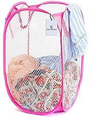 Kuber Industries Nylon Mesh Laundry Basket (CTKTC1475), 30 Ltr