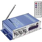 WINGONEER 12V Hi-Fi Stereo amplificador de audio digital de DVD USB SD FM estéreo audio MP3 de radio del coche del altavoz de