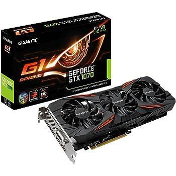 GeForce GTX 1070 G1 Gaming 8G - Tarjeta gráfica (GDDR5 8 GB, 7680x4320, 8008 MHz, 256 bit)