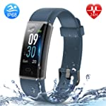 HolyHigh Smart Bands,Fitness Watch IPX68 Waterproof Colorful Screen Heart Rate Sleep Monitor Pedometers Calorie Counter...