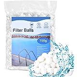 HUTHIM Filtre Balls Balles de Filtration, Filtre pour Piscine de 700g Peut Remplacer 25 kg Sable Filtrant Sable de Quartz, Co