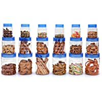 Cello Checkers Plastic Container Set, 18-Pieces, Blue