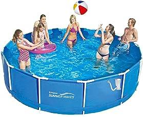 Summer Waves Frame Pool 366x91cm Rahmen Swimming Pool Familien Schwimmbad inkl. Zubehör