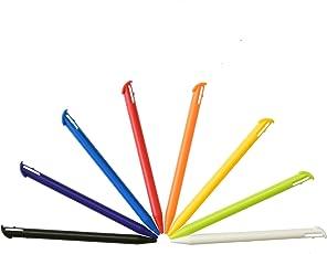 Set 8 pennini Stylus Touch in plastica multicolore per New Nintendo 3DS XL
