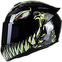 KKmoon Casco Moto Rading, Casco Integrale Leggero alla Moda per Motociclismo, Verde