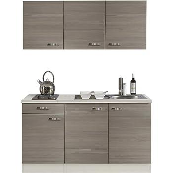 Amazon.de: Singleküche BARCELONA | Miniküche mit Elektro-Kochfeld ...